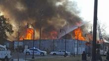 IMAGES: Abandoned Goldsboro warehouse declared a 'total loss' after large fire