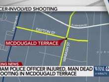 A Durham police officer was involved in a shooting Tuesday afternoon near the intersection of Wabash and Dayton streets, officials said.