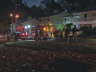 One person was rescued from a burning apartment and taken to a local hospital early Wednesday, Raleigh fire officials said.