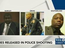 Officers Christopher Goss, Monte Southerland and Charles Barkley were involved in the shooting of a Durham man on Nov. 22, 2016.
