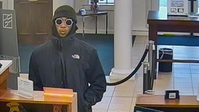 Fayetteville police on Monday release surveillance photos of a man who authorities say robbed a bank in the 3600 block of Ramsey Street.