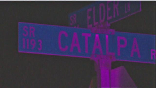 Authorities said officers responded to a report of a shooting along the 5200 block of Catalpa Road at about 7:50 p.m. and found two houses that sustained damage from an unknown suspect who fired a gun in the area.