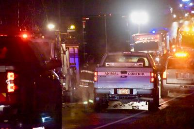Authorities said a tractor trailer had pulled away from a traffic light on Bethlehem Road just after 7 p.m. when a pick-up truck collided with it.