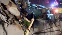 IMAGES: Man dies when truck slams into car stopped on I-40 near Benson