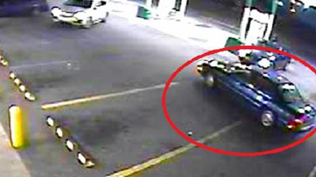 Butner Public Safety officials are searching for the blue sedan pictured at right in connection with a fatal Dec. 4, 2016, hit-and-run.
