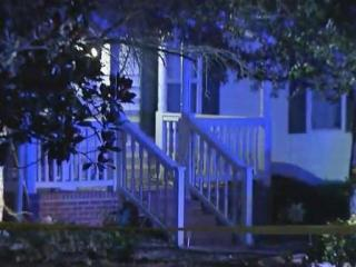 One man was shot on his front porch early Sunday morning in Sanford.