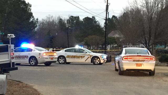 The Durham County Sheriff's Office said that one man was wounded and treated for a gunshot wound to the arm following an incident on Melanie Street at about 3:20 p.m.