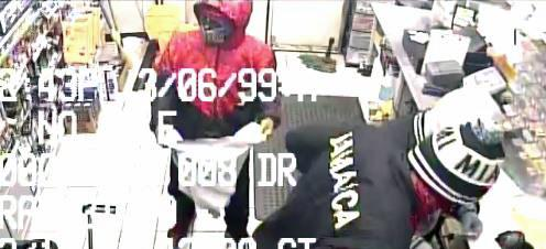 Clayton police released surveillance photos on Monday of three men who investigators believe robbed a convenience store on U.S. Highway 70 Business.