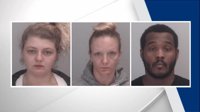 Devyn Linn Ford (left), Kylee Dawn Ford, Davonte Leon Graves