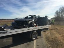 One person died Thursday morning in a two-vehicle Harnett County wreck, authorities said.