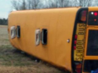 Edgecombe County School officials said two students were seriously injured Friday morning when a bus overturned on its way to school.