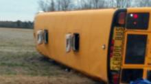 IMAGES: 19 students injured when Edgecombe County bus flips, officials say