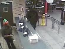 RAW: Suspect caught on camera robbing Fayetteville Burger King