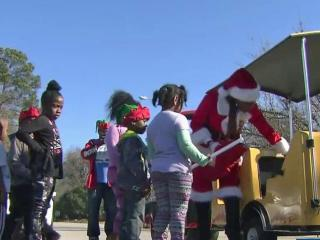 Some Fayetteville residents who were hit hard by Hurricane Matthew celebrated Christmas a few days early on Thursday.
