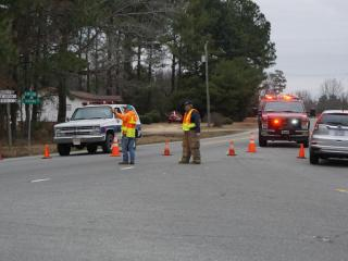 Dozens of homes were evacuated Monday on Herring Road near U.S. Highway 13 South in Goldsboro after the discovery of several cases of dynamite in a storage building belonging to feed wholesaler Herring Milling Co.
