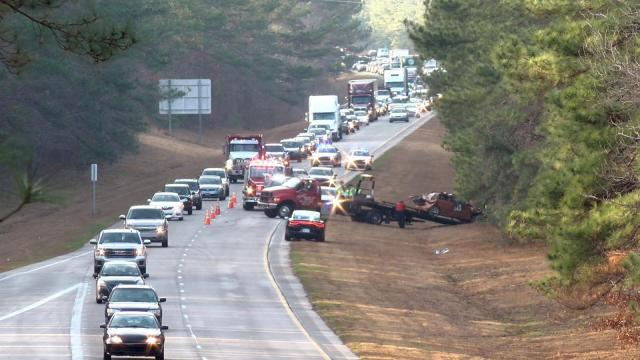 Nash County troopers responded to the crash on U.S. Highway 264 East near exit 27 outside of Middlesex at about 2 p.m.