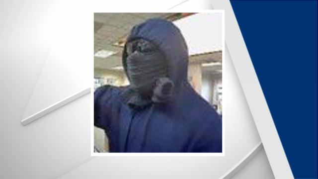 Garner police are trying to identify the person who robbed a SunTrust bank on Small Pine Drive on Dec. 28, 2016.