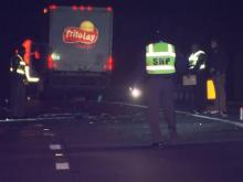 The northbound lanes of the Durham Freeway were closed early Thursday morning after a wreck near T.W. Alexander Drive.