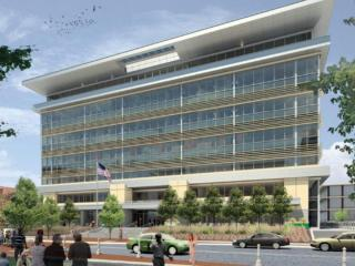 An artist's rendering shows how the former Durham County Courthouse on East Main Street will look when a $47 million overhaul is finished in the summer of 2018.