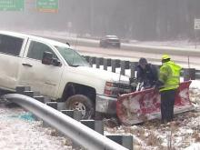 Raleigh roads proved too slick for some