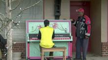 IMAGE: Goldsboro public piano fuels man's musical passion