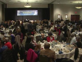 Nearly 1,000 people attended the Interfaith Prayer Breakfast on Monday to celebrate the life and work of Martin Luther King, Jr.
