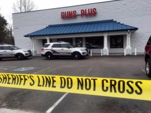 Gun range shooting