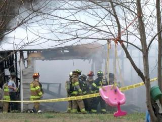 One man was injured Tuesday afternoon in a Johnston County fire that authorities are investigating as suspicious.