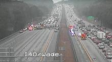 IMAGE: All eastbound lanes of I-40 reopen at Harrison Avenue after crash