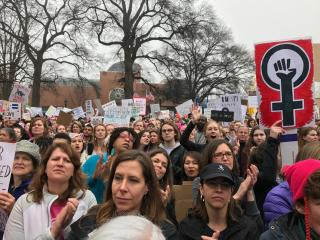The Women's March in Raleigh on Saturday drew thousands of people to Fayetteville Street.