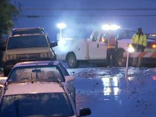 Water main break closes road in downtown Durham