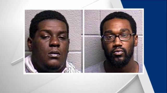 Malcolm Lee Davis, 23, and Ladarrious Lamonte Alston, 23, both of Durham, were located on Guess Road and charged with robbery with a dangerous weapon and felony conspiracy.