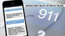 IMAGE: Texts with dispatcher lead to rescue of woman trapped in trunk of moving car