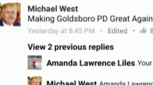 IMAGE: Goldsboro police chief under fire for online Trump impersonation