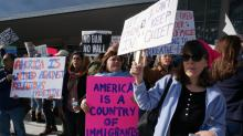 1,000 protest Trump travel ban at RDU