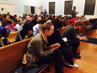 Waypoint Church in Durham, working with the refugee advocacy group World Relief Durham, brought a community of faith together through a vigil Thursday evening.