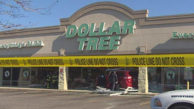 Car crashes into Dollar Tree in Spring Lake