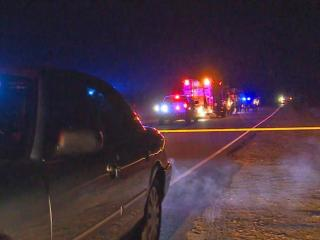 A driver and police officer were hospitalized Monday night after a traffic stop led to a shooting in Spring Lake.