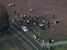 Sky 5: Serious crash involving two Durham police officers, deputy