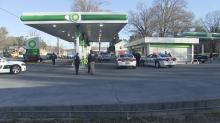 A person sustained life threatening injuries after being shot at a gas station in Durham.