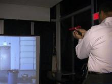 Gerald Owens tries out Durham police simulator