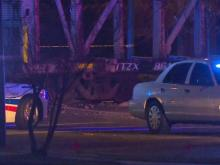 One person died early Sunday when a train stuck a disabled car.