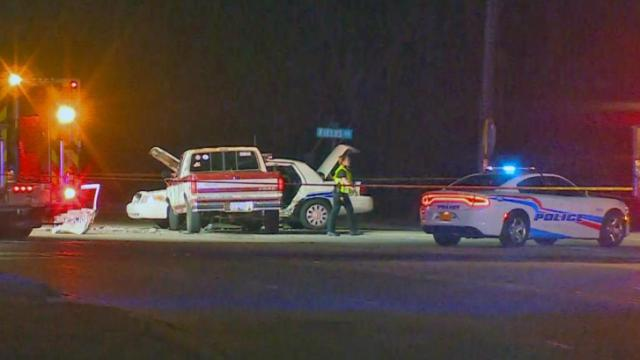 Two Fayetteville police officers and two other people were taken to Cape Fear Valley Medical Center Sunday night after a police cruiser was involved in a wreck on Cedar Creek Road.
