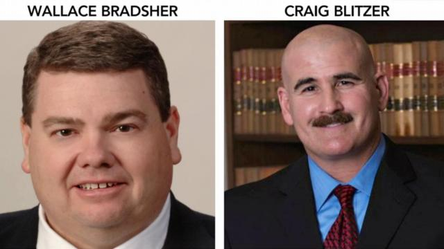Wallace Bradsher is district attorney for Person and Caswell counties. Craig Blitzer is district attorney for Rockingham County.