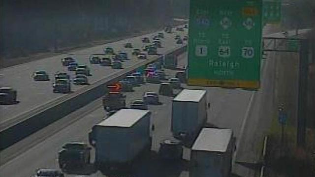 Law enforcement officer involved in wreck on I-40 in Raleigh