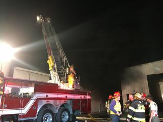 Fire blazes at meat processing plant in Raeford
