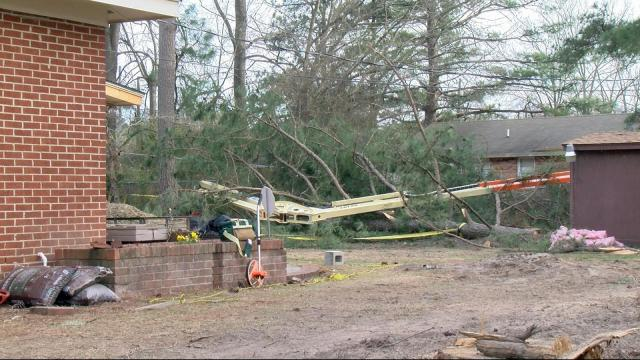 A Johnston County tree trimmer was killed when he was thrown from a bucket truck Monday morning.