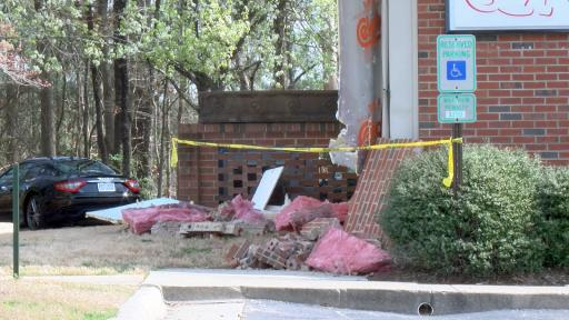 No people or animals were seriously hurt Tuesday morning when a Nissan sedan drove into the side of a veterinary clinic in Knightdale.