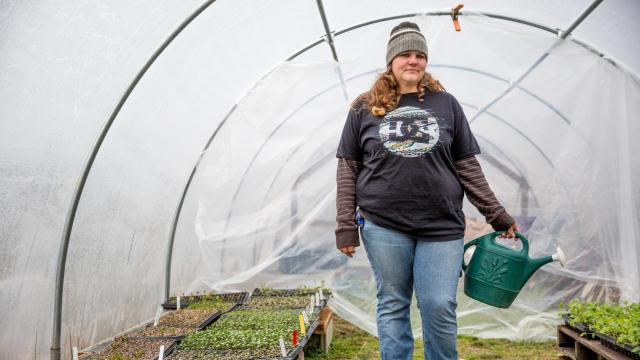 """This farm means everything to me.  They give me a home, a job, and food.  They bend over backwards to help me out.  I'm blessed,"" said Missy."