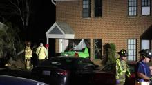 IMAGES: Car crashes into Raleigh apartment building